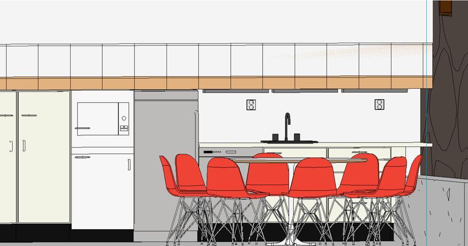 Figur 2: Bilde fra Revit, kjøkken.